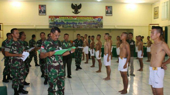 Pangdam XII/Tpr Pimpin Sidang Calon Tamtama Perbatasan