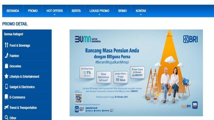 Program Pinjaman BRI Khusus Pensiunan PNS, TNI / Polri Suku Bunga Ringan 1% di Bulan Oktober 2021