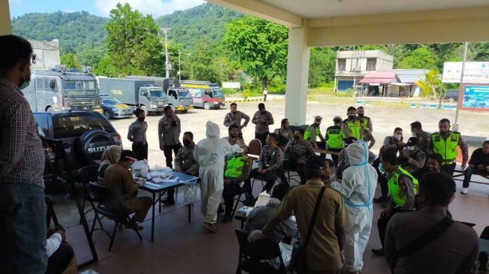 Polres Kayong Utara Laksanakan Tes Swab Antigen Rutin untuk Cegah Penyebaran Covid -19