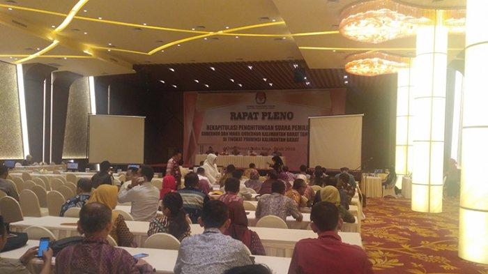 KPU Kalbar Gelar Rapat Pleno Rekapitulasi Perhitungan Suara Pilgub Kalbar