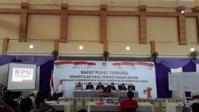Ini Hasil Rekapitulasi Perolehan Suara Gubernur Dan Wagub Kalbar di Sanggau