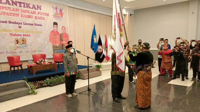 Suasana Pelantikan Perkumpulan Merah Putih Kabupaten Kubu Raya dilantik di Gardenia Resort and Spa Jl Arteri Supadio, Kamis 29 Juli 2021