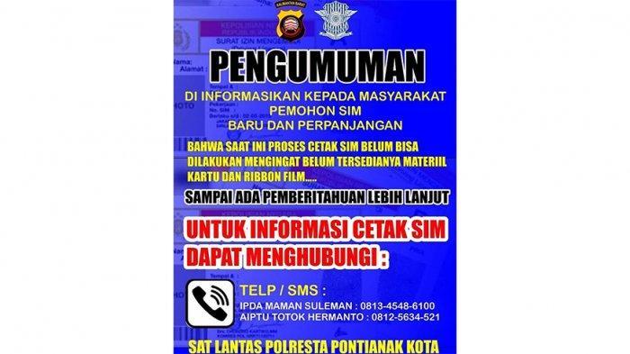 Terkait Cetak SIM, Kombes Pol Asep Akbar Hikmana Sebut Sudah Utus Kasi SIM Polda Kalbar