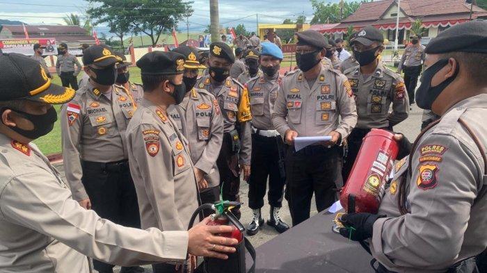 Lihat Kesiapan Pengamanan Pilkada 2020, Polda Kalbar Lakukan Asistensi di Polres Bengkayang