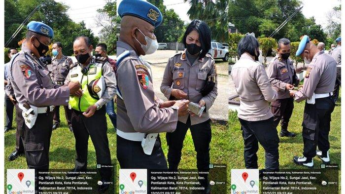 Personel Bidpropam Polda Kalbar Melaksanakan Gaktiblin di Mako Polsek Pontianak Kota