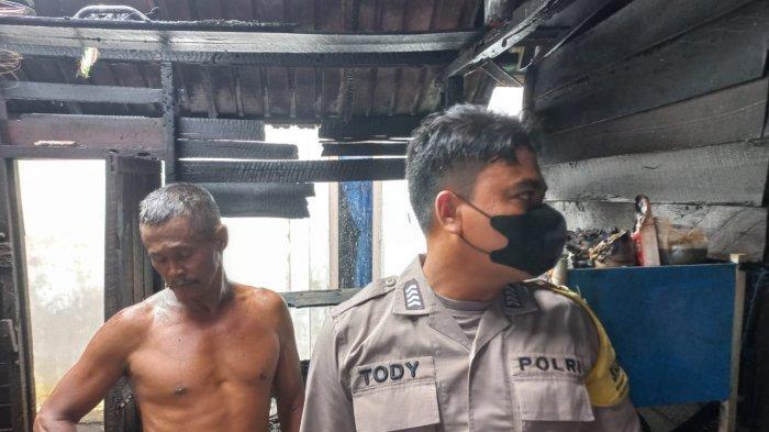 Lupa Matikan Kompor, Satu Rumah di Jalan Adisucipto Sungai Raya Kubu Raya Terbakar