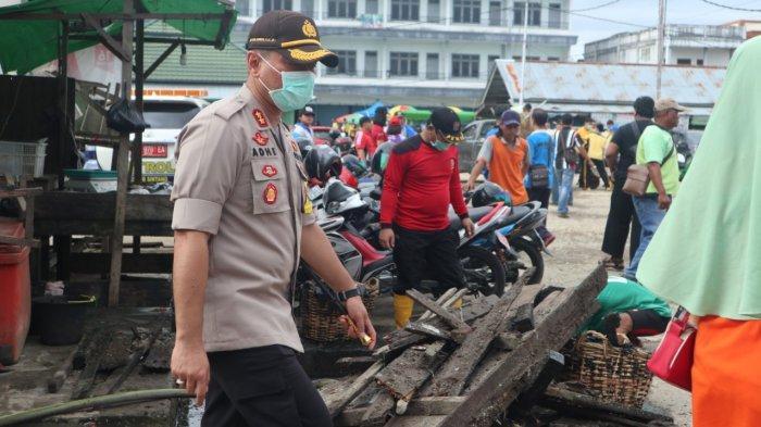 Jumat Bersih, Kapolres Bersama Forkopimda Selenggarakan Kurvei Pasar Sayur Masuka