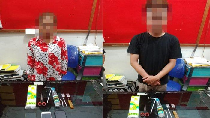 Personel Polsek Delta Pawan Amankan Dua Pria Beserta Barang Bukti Sabu dalam Kamar Hoteldi Ketapang