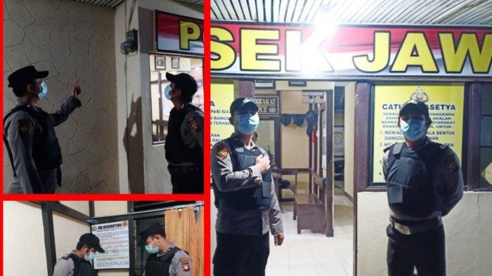 Siaga Dalam Bertugas, Anggota Piket Polsek Jawai Melakukan Pengecekan di Sekitar Mako