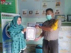 Polsek Kuala Mandor B Sosialisasikan Maklumat Kapolri, Upaya Tanggulangi Penyebaran Covid-19