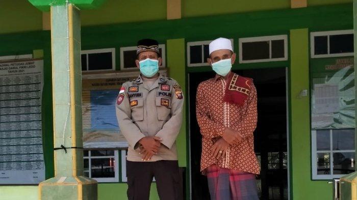 Personel Polsek Ledo Berikan Pengamanan Shalat Jumat di Masjid Darul Fiqri