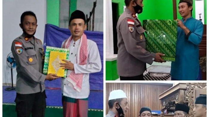 Kapolsek Mentebah Salurkan Bantuan Al Quran di Tiga Masjid Kecamatan Mentebah