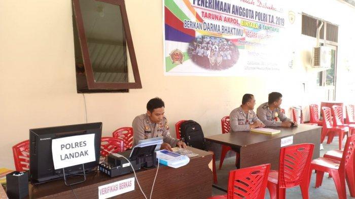 235 Orang Mendaftar Anggota Polri di Polres Landak