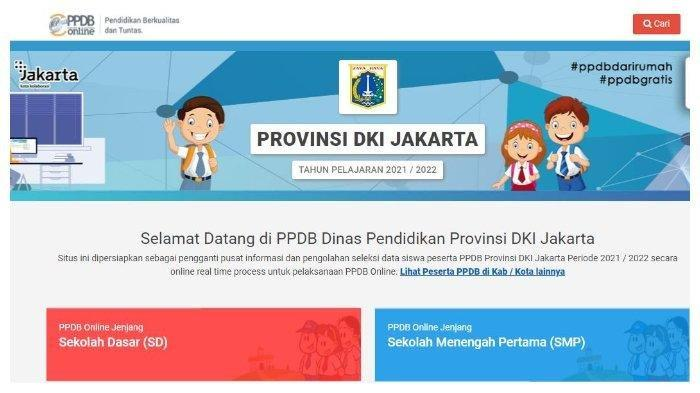 Cara Daftar PPDB DKI Jakarta 2021 SD, SMP, SMA Lengkap dengan Alur Pendaftaran di ppdb.jakarta.go.id