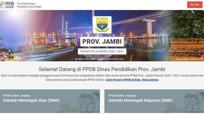 Klik Jambi.siap-ppdb.com atau ppdb.disdik.jambiprov.go.id untuk Daftar PPDB Jambi 2020