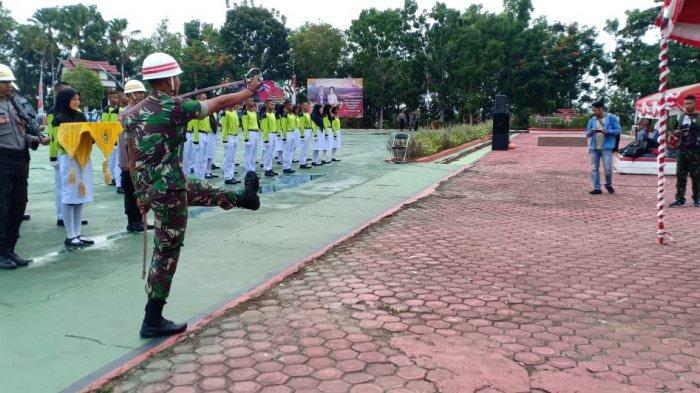 Prajurit Kodam XII Tpr Latihan Bersama Paskibra Palangkaraya