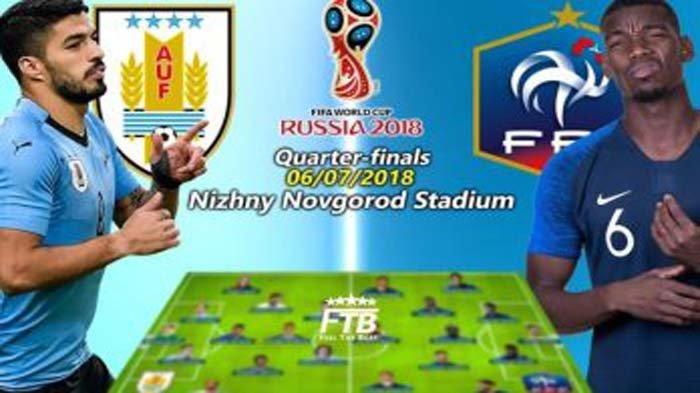 LIVE Babak II Prancis Vs Uruguay di TransTV, Babak I Prancis Menang! Live Streaming dengan Cara Ini