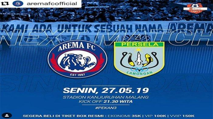 Prediksi Arema FC Vs Persela Lamongan Shopee Liga 1 Live Streaming Indosiar Pukul 20.30 WIB