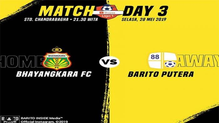 Link Streaming Bhayangkara FC Vs Barito Putera di Ochannel, Gol Evan Dimas Tipiskan Skor Jadi 2-1