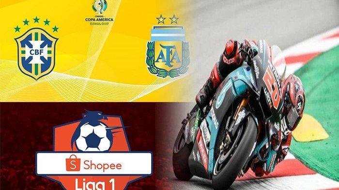 TERPOPULER- Prediksi Brazil Vs Argentina, Kualifikasi MotoGP Belanda 2019, hingga Shopee Liga 1 2019