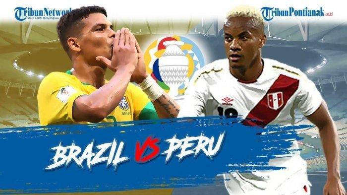 Prediksi Brazil Vs Peru Live Indosiar Pagi Ini, Hasil dan Klasemen Terbaru Copa America 2021