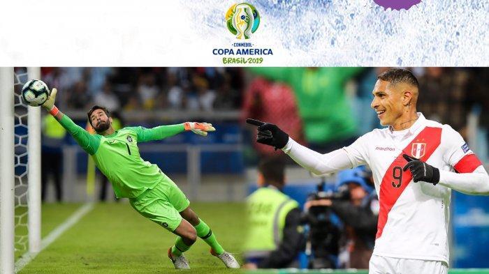 Prediksi Brazil Vs Peru Final Copa America 2019, Paolo Guerrero Ancaman Nyata Alisson Becker