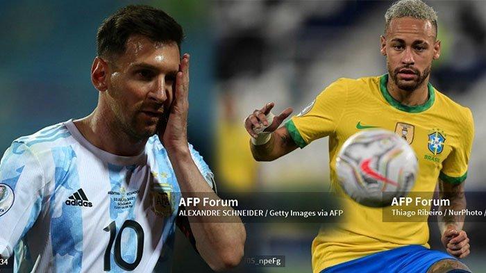 Head to Head Rekor Pertemuan Brasil vs Argentina Final Copa America 2021 Live Indosiar