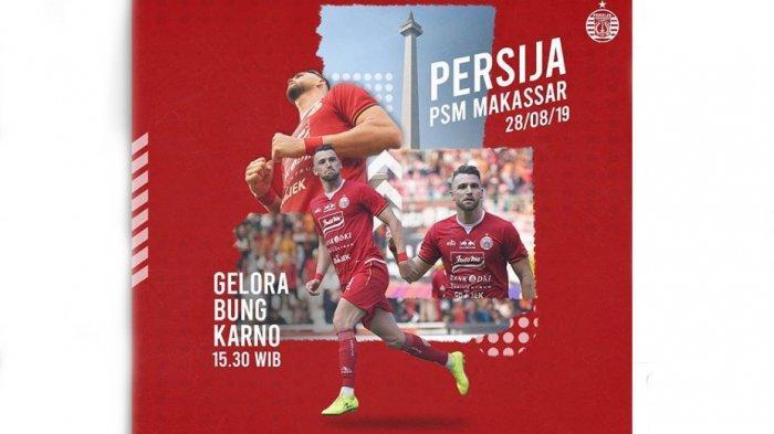 Prediksi Persija Jakarta VsPSM Makassar Shoppe Liga 1 LIVE Indosiar 15:30 WIB, Usung Misi Tiga Poin