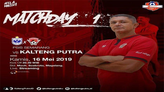 Prediksi PSIS Semarang Vs Kalteng Putra Shopee Liga 1 2019 Live Streaming Pukul 20.30 WIB