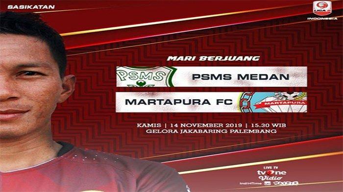 Live Score PSMS Medan Vs Martapura 8 Besar Liga 2, Cek Hasil Martapura Vs PSMS di Live Score Liga 2