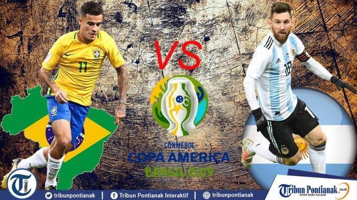 Prediksi Skor Brasil Vs Argentina Semifinal Copa America 2019, Head to Head dan Link Live Streaming