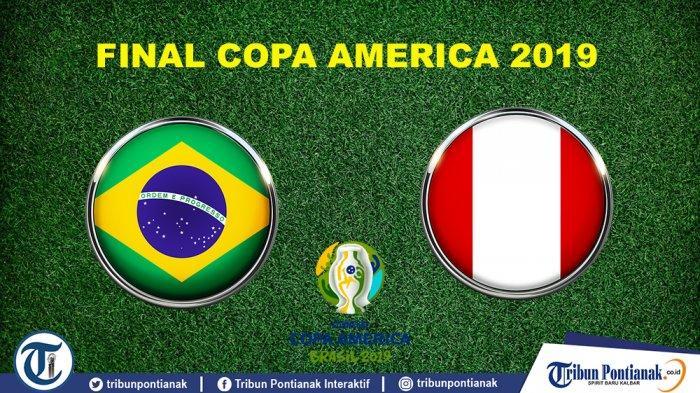 Prediksi Skor Brasil Vs Peru Final Copa America 2019, Line-Up, H2H dan Link Live Streaming 03.00 WIB