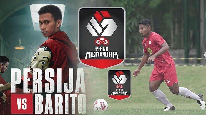 UPDATE HASIL Persija vs Barito Putera Piala Menpora Babak 8 Besar - Bagas Kaffa Ditandu, Skor 0-0