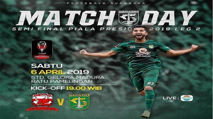 STREAMING Indosiar Piala Presiden Sedang Berlangsung, Madura United Vs Persebaya Surabaya Berjibaku