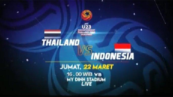 PREDIKSI Timnas Indonesia Vs Thailand di Piala Asia U23, Starting Eleven dan Link Live Streaming