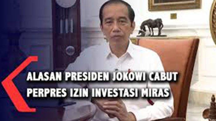 Presiden Jokowi Cabut Izin Investasi Miras, Siapa Bujuk Jokowi Buka Investasi Miras?