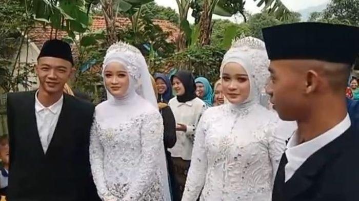 Kisah Pemuda Kembar Nikahi Wanita Kembar di Sumedang, Sering Salah Panggil Nama Saat Masih Pacaran