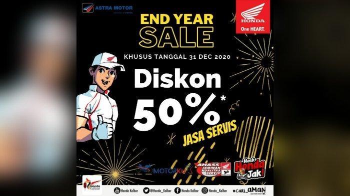 End Year Sale, AHASS Berikan Potongan 50% Jasa Servis di Jaringan AHASS di Kalbar