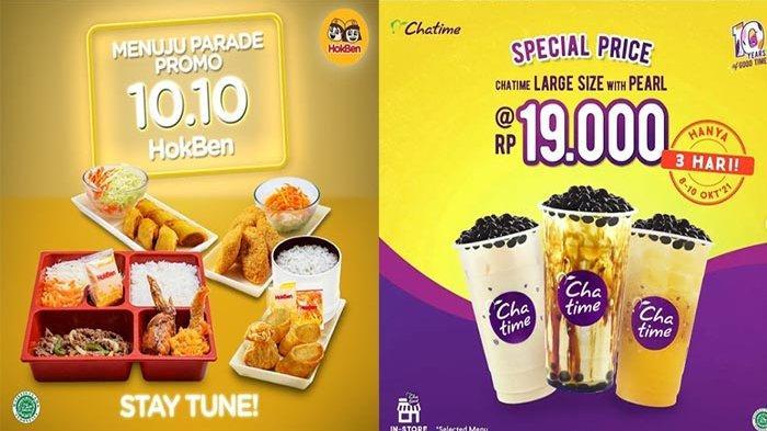 PROMO 10.10 Makanan dan Minuman, Promo Murah Dari Rp 10.100 Hingga Diskon 80 Persen !