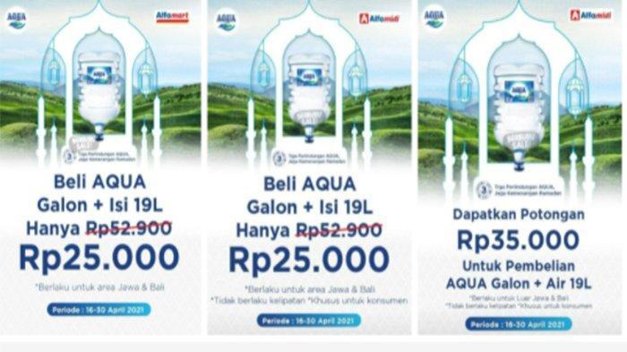 Promo Alfamart 29 April 2021, Promo Aqua Galon di Alfamart Hanya 25 Ribu-an