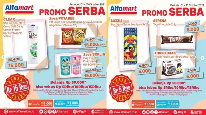 PROMO ALFAMART Hari Ini 14 Oktober 2021, Hemat Snack Pewangi Shampo Bisa Tebus Murah Rp 5.000-15.000