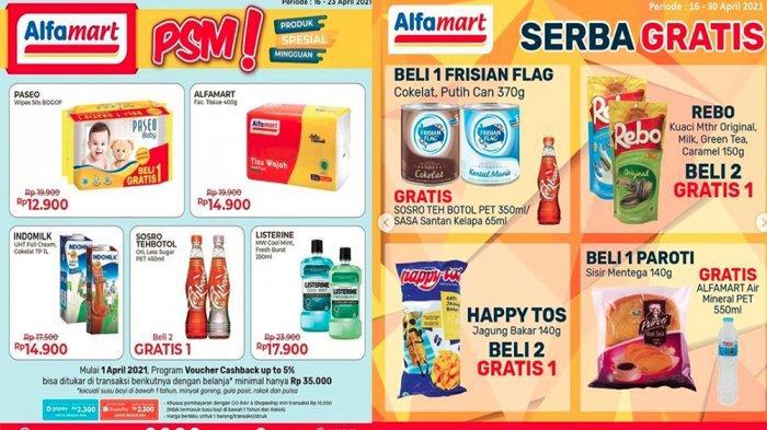PROMO ALFAMART Hari Ini 19 April 2021, Produk Spesial Mingguan hingga Serba Gratis Snack Shampo