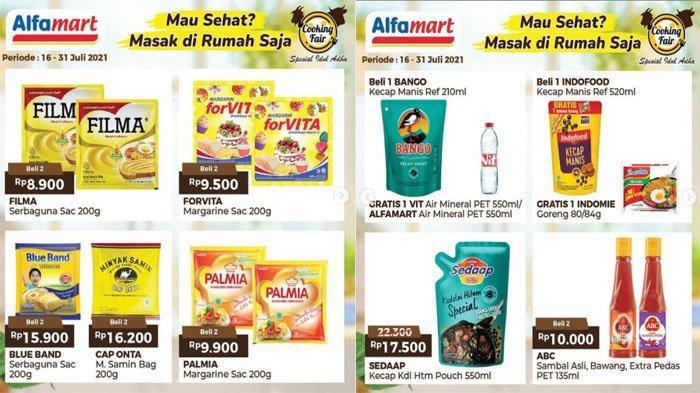 PROMO ALFAMART Hari Ini 22 Juli 2021, Produk Kebutuhan Dapur Margarin Kecap Susu hingga Minuman