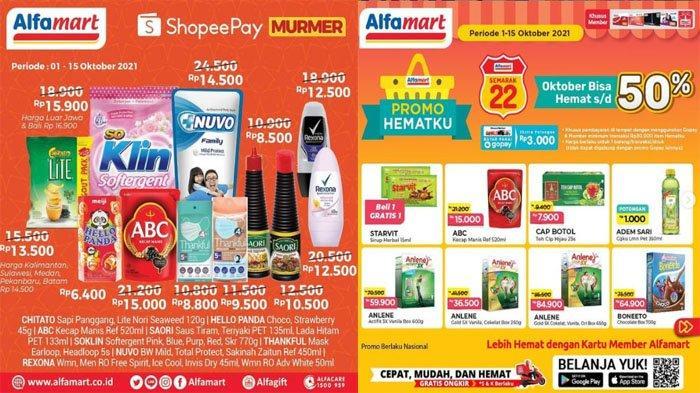 PROMO ALFAMART Hari Ini 5 Oktober 2021, Promo Serba Hematku ShopeePay Murmer Snack hingga Deterjen