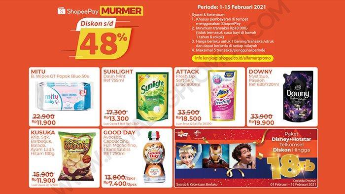 Promo Alfamart Shopeepay Diskon Sampai 48 Persen, Ekstra Potongan Bikin Belanja Makin Hemat