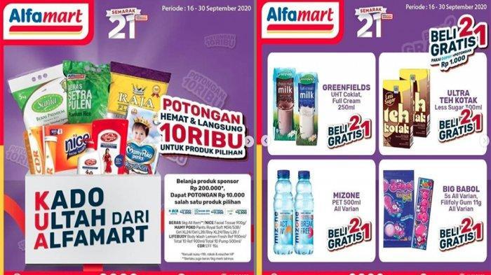PROMO ALFAMART Terbaru 16 September 2020 Promo Spesial MenyambutSemarak 21 Tahun, Beli 2 Gratis 1