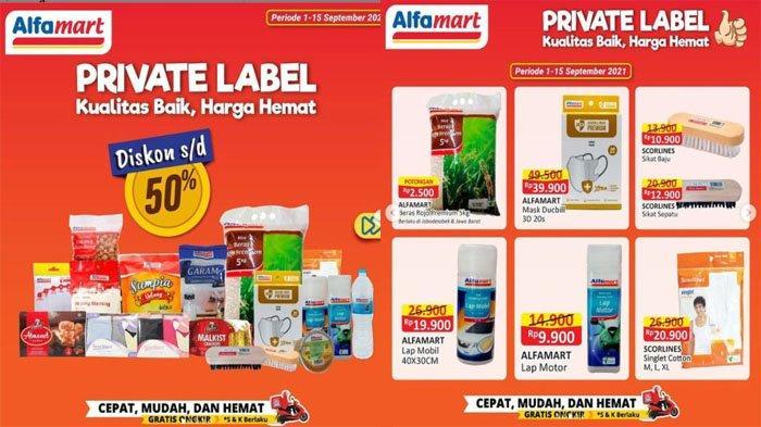 PROMO ALFAMART Terbaru Hari Ini 13 September 2021, Serba Gratis dan Diskon hingga 50% Private Label