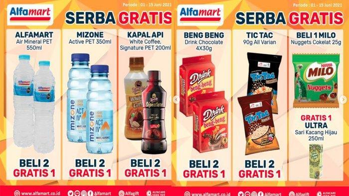 PROMO ALFAMART Terbaru Hari Ini 2 Juni 2021 Promo Serbu hingga Serba Gratis, Minuman Beli 2 Gratis 1