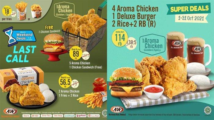 PROMO A&W Terbaru Hari Ini 3 Oktober 2021, Makan Murah dengan Paket Weekend Deals & Super Deals