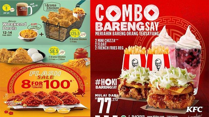 PROMO Ayam Goreng Crispy 12 Februari 2021, Paket Hemat dari A&W , KFC & Richeese Factory